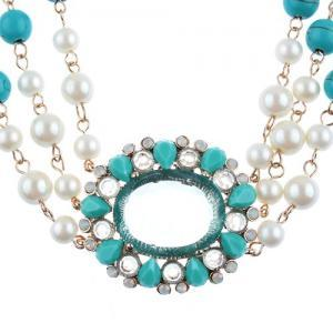 Fashion 3 Layers Necklace Jewelry W..