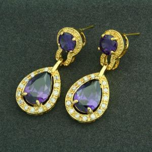 Luxurious 18KGP Purple Cubic Zircon..