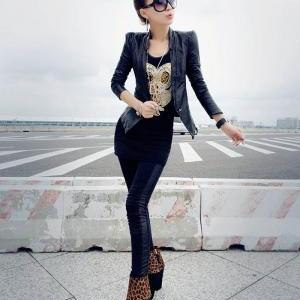 Casual Style Scoop Neck Sequin Owl ..