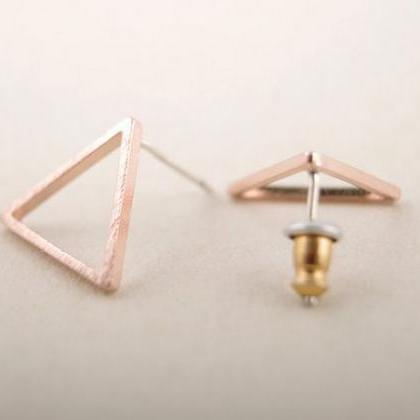 Gold Silver Pink Gold hollow Triang..