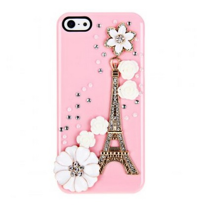 iPhone 5 case 3D Tower Rhinestones Plastic Back Hard cover