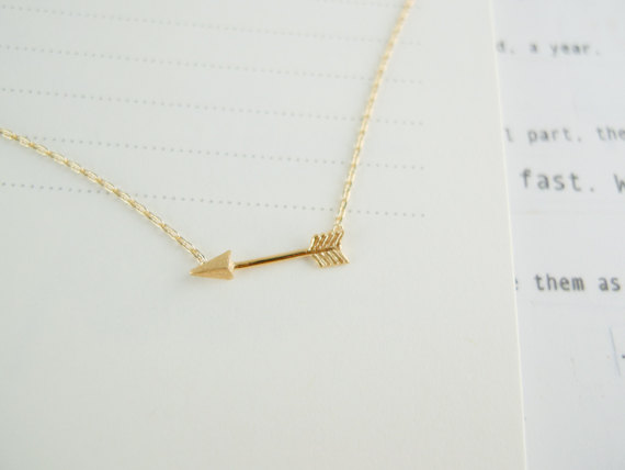 top plain necklace arrow silver