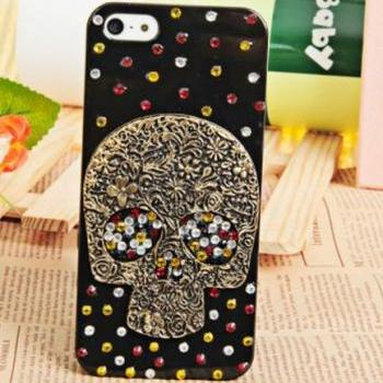 iPhone 5 3D Case Skull Transparent Hard Protective