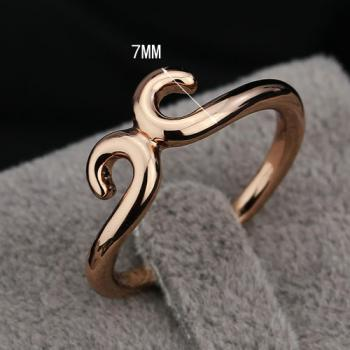Simple Brass Rose Yellow Gold Plated Ring