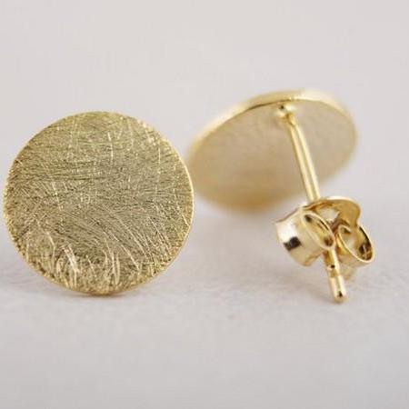 fashion jewelry cc Circle stud Earrngs Simple Tiny round Stud color gold/silver/rose gold